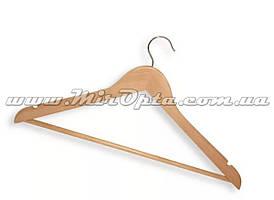 Вешалка деревянная с тонким плечом светлая (светлый бук)