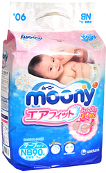 Подгузники Moony NB (0-5 кг), 90 шт.