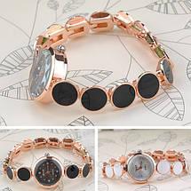 Женские кварцевые часы черные, фото 2