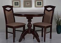 Стол обеденный  деревянный буковый Престиж темный орех диаметром 900 мм