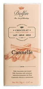 Шоколад бельгийский молочный с корицей Dolfin, 70г