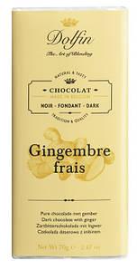 Шоколад бельгийский черный с имбирем Dolfin, 70г