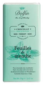Шоколад бельгийский черный с мятой Dolfin, 70г
