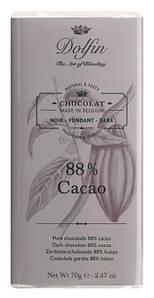 Шоколад бельгийский черный 88% Dolfin, 70г