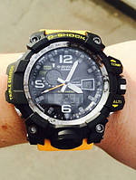 Часы мужские наручные Casio G-Shock GWG-1000 Black-Yellow Wristband