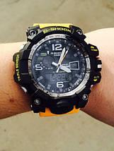 Часы мужские наручные Casio G-Shock GWG-1000 Black-Yellow Wristband копия, фото 2