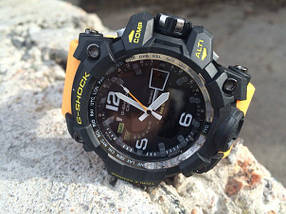 Часы мужские наручные Casio G-Shock GWG-1000 Black-Yellow Wristband копия, фото 3