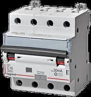 Дифференциальный автоматический выключатель трехфазный 16А 30мА С 411186 Legrand