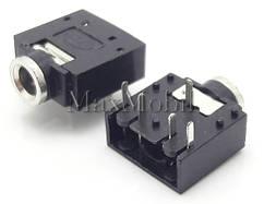 Аудио разъем 3,5 мм 5-pin, гнездо A02