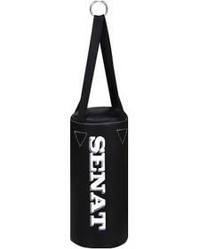 Боксерский мешок SENAT 50х22 кожзам 4 подвеса 3 цвета (красный, синий, чёрный)