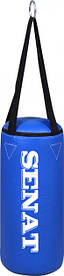Боксерский мешок SENAT 50х22 ПВХ 4 подвеса 2 цвета (красный, синий)