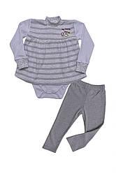 """Стильный костюмчик для малышек  """"My little mouse""""  р.68-80см"""