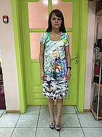 Платье женское летнее цветное короткий рукав повседневное Snake Milano