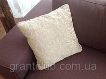 Подушка декоративная 46 cm x 46 cm молочного цвета 600Т фабрика ALBERTA (Италия)