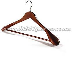 Вешалка деревянная с широким плечом темная (махонь)