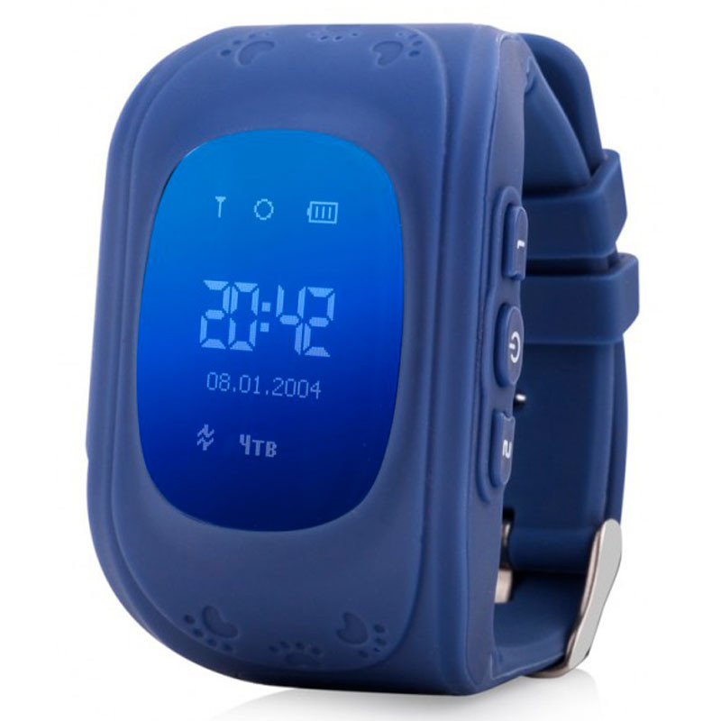 Smart Baby Watch Q50 OLED Navy с GPS трекером