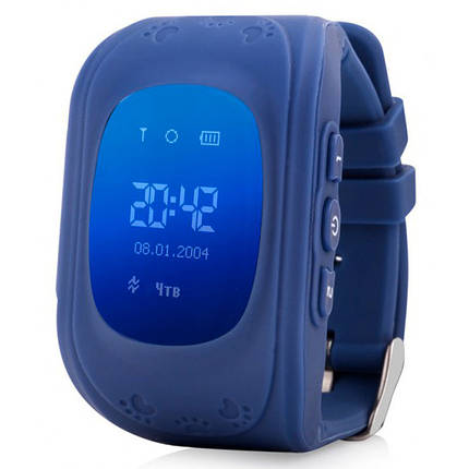 Smart Baby Watch Q50 OLED Navy с GPS трекером, фото 2