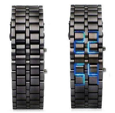 Часы бинарные Самурай браслет железный, фото 2