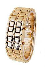 Часы бинарные Самурай браслет железный, фото 3