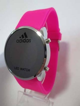 Часы розовый ремешок, фото 2