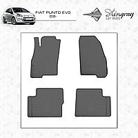 Коврики резиновые в салон Fiat Punto с 2012- (4шт) Stingray