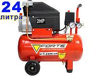 Масляний компресор 24 літри Forte FL-24