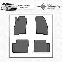 Коврики резиновые в салон Fiat Grande Punto с 2009- (4шт) Stingray