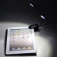 Подсветка для чтения книг. Светодиодный Led фонарик, Double, 4 светодиода.