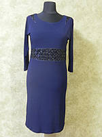 Платье синее трикотаж-масло