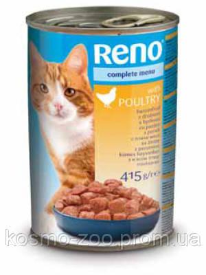 Консервы для котов Рено (Reno, Венгрия) со вкусом птицы, 415 гр