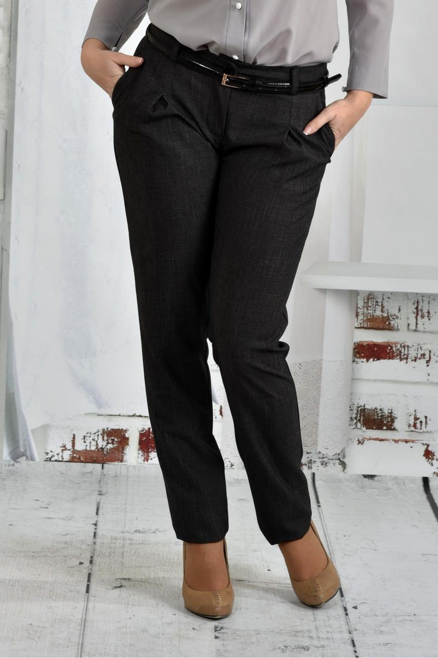 Женские классические брюки 021 цвет серый размер 42-74
