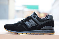 Кроссовки New balance 574, черные замшевые