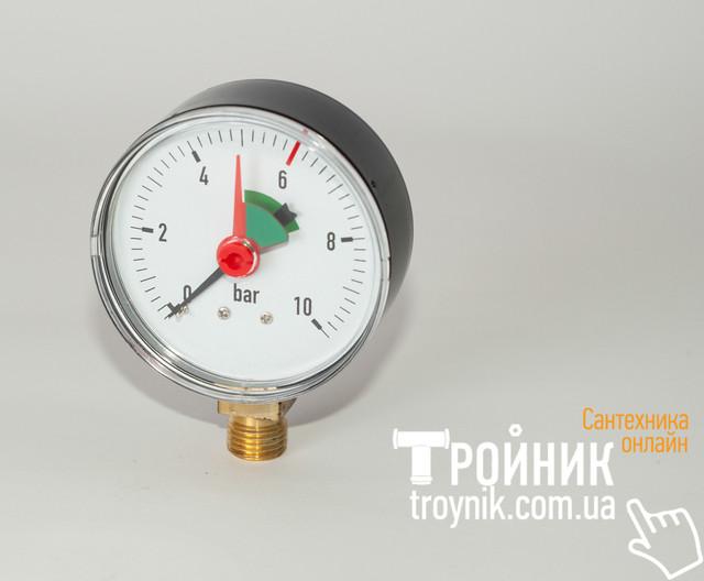 "Манометр радиальный 1/4"" 0-10 бар 63 мм Evo"