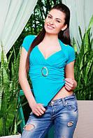 Кофта Клодин голубой 42-50 размеры