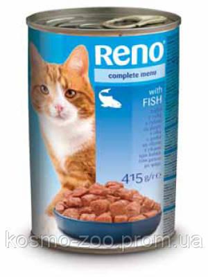 Консервы для котов Рено (Reno, Венгрия) со вкусом рыбы, 415 гр