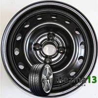 Chevrolet Aveo (R14 W5.5 PCD4x100 ET45 DIA56.56) (КрКЗ) Черный (218)