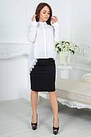 Асимметричная блуза-фрак с кружевом