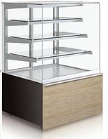 Кондитерская холодильная витрина GASTROLINE CUBE 0.6; 4 полки (кубическое стекло)