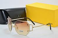 Солнцезащитные очки фигурные Fendi коричневые