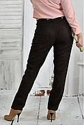 Женские классические брюки 021 цвет коричневый размер 42-74, фото 2