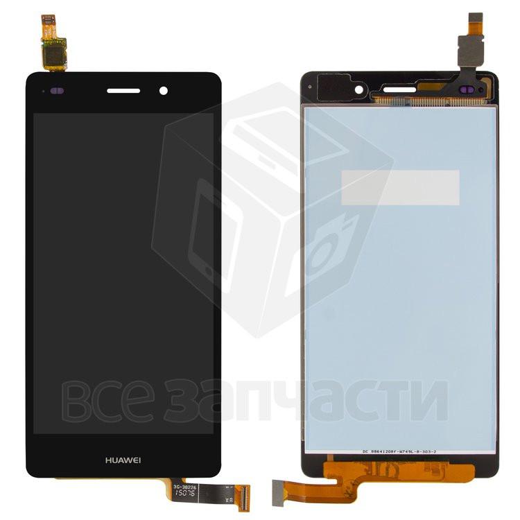 Дисплей для мобильного телефона Huawei P8 Lite (ALE L21), черный, с сенсорным экраном