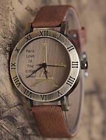 Часы наручные с коричневым ремешком