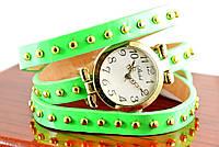 Наручные часы браслет c  кожаным ремешком