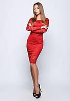 Облегающее вечернее красное платье 883