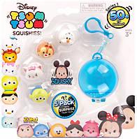Игровые фигурки Zuru Disney Tsum Tsum - 5 игрушек и брелок
