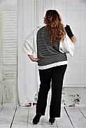 Женская блуза в полоску 0410 размер 42-74, фото 4