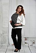 Женская блуза в полоску 0410 размер 42-74, фото 2