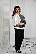 Женская блуза в полоску 0410 размер 42-74, фото 3