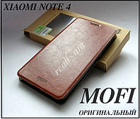 Коричневый чехол для Xiaomi Redmi Note 4, противоударный чехол книжка MOFI , фото 1