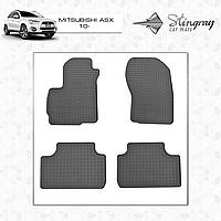 Коврики резиновые в салон Mitsubishi ASX с 2010 (4шт) Stingray